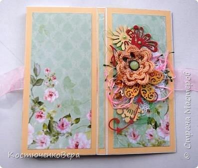 Сделала две весенние шоколадницы. Использовала вязанный цветок, очень хотелось именно с ним сделать композицию. фото 3