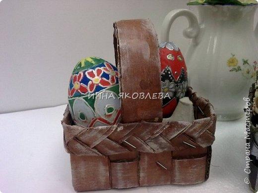 Пасхальные корзиночки на 4 яйца. Очень удобны, как подарочный вариант, но и на столе, в качестве украшения, будут смотреться красиво. фото 10