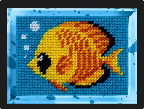 Вот такую яркую рыбку я сложила. Опять использовала диагональную технику складывания. Мне эта техника всё больше нравится. фото 2