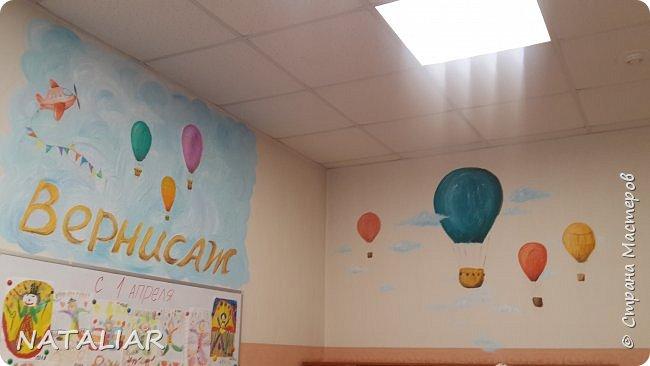 Роспись стен в детском саду акриловыми красками. фото 4