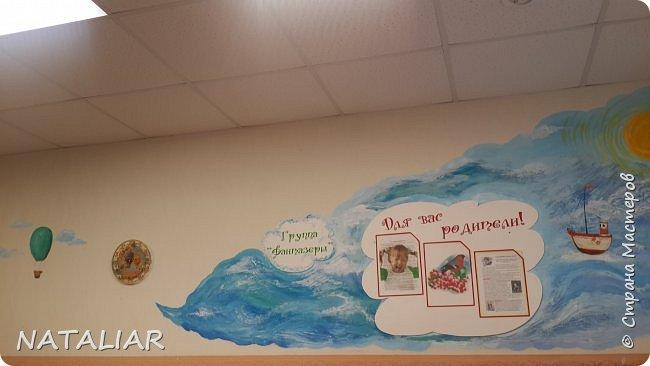 Роспись стен в детском саду акриловыми красками. фото 7