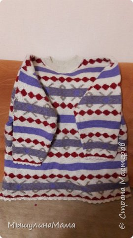 Любимый свитер :) Связан спицами, отделка рукавов и низа крючком.