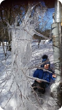 Пошли гулять в зимний денек, а у нас под окном Снежная королева нахулиганила фото 1