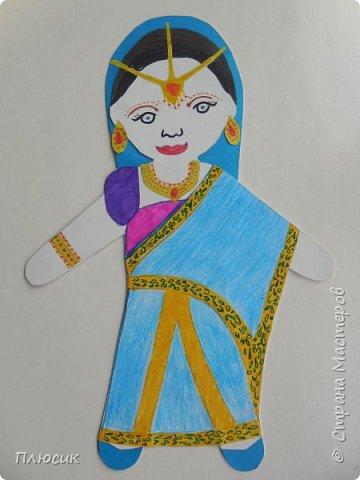 Работу выполнила ученица 6 класса Албычева Екатерина, 12 лет. Кукла в индийском костюме сари. фото 1