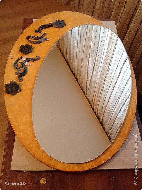Старинное зеркало из потолочной розетки http://stranamasterov.ru/node/792929 переехало жить в спальню.  Надо было его чем-то заменить . Вот что сотворилось... фото 15