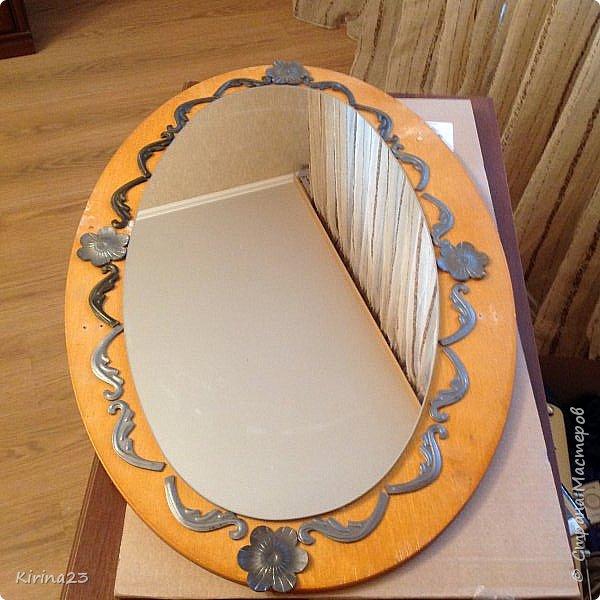 Старинное зеркало из потолочной розетки http://stranamasterov.ru/node/792929 переехало жить в спальню.  Надо было его чем-то заменить . Вот что сотворилось... фото 17