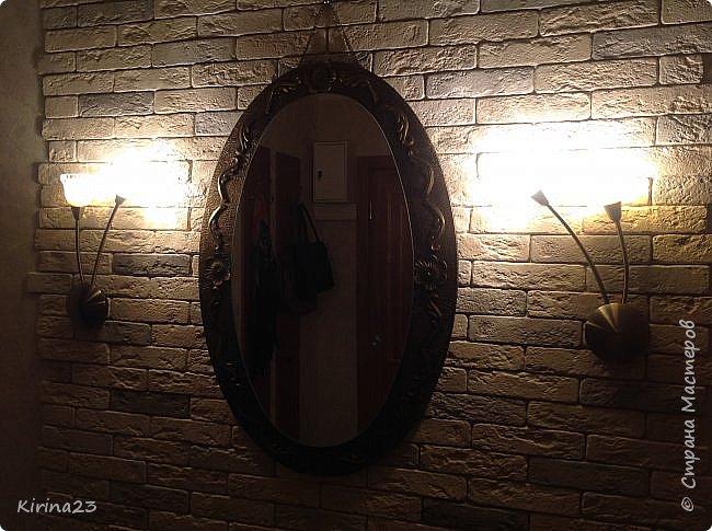 Старинное зеркало из потолочной розетки http://stranamasterov.ru/node/792929 переехало жить в спальню.  Надо было его чем-то заменить . Вот что сотворилось... фото 7