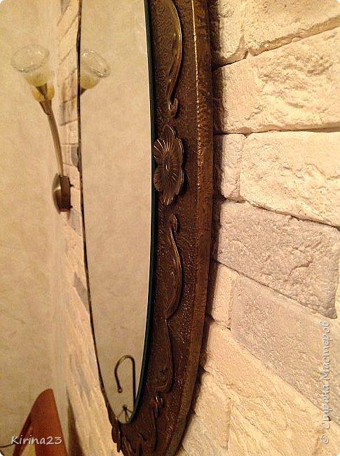 Старинное зеркало из потолочной розетки http://stranamasterov.ru/node/792929 переехало жить в спальню.  Надо было его чем-то заменить . Вот что сотворилось... фото 8