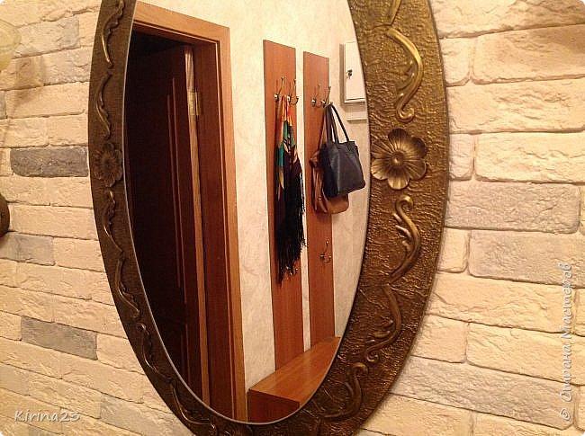 Старинное зеркало из потолочной розетки http://stranamasterov.ru/node/792929 переехало жить в спальню.  Надо было его чем-то заменить . Вот что сотворилось... фото 9