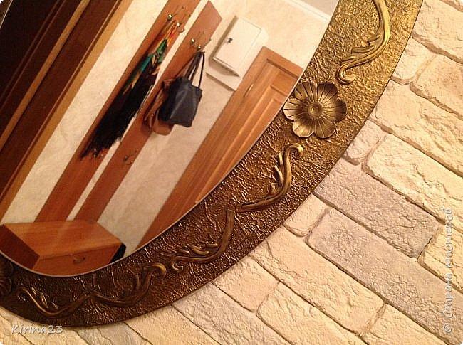 Старинное зеркало из потолочной розетки http://stranamasterov.ru/node/792929 переехало жить в спальню.  Надо было его чем-то заменить . Вот что сотворилось... фото 10