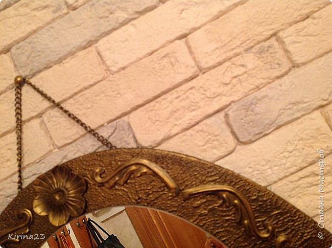 Старинное зеркало из потолочной розетки http://stranamasterov.ru/node/792929 переехало жить в спальню.  Надо было его чем-то заменить . Вот что сотворилось... фото 11