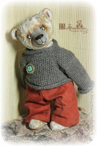 Мишка Андрюшка - тискальный мальчишка с мягким пузиком, улыбчивый и с добрыми глазами... Славный малый. Любит спорт...но... жуткий сладкоежка...)))  фото 1