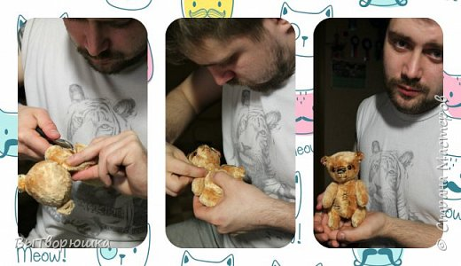 Мишка Андрюшка - тискальный мальчишка с мягким пузиком, улыбчивый и с добрыми глазами... Славный малый. Любит спорт...но... жуткий сладкоежка...)))  фото 6