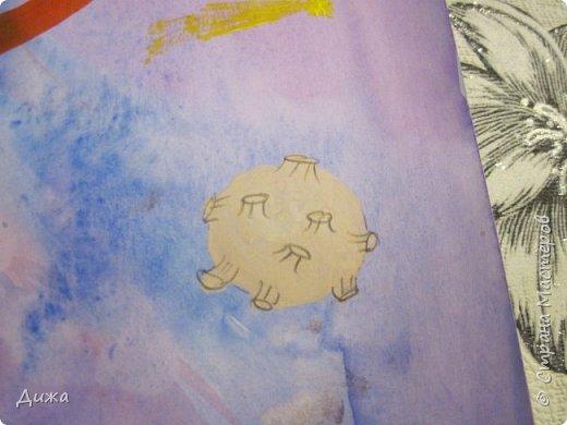 Всем большущий приветик!!! Хочу показать вам рисунки на тему КОСМОС. Я очень люблю смотреть на небо и разглядывать звезды и луну. Читаю книги и донимаю родителей с расспросами про космос и галактики.  фото 4