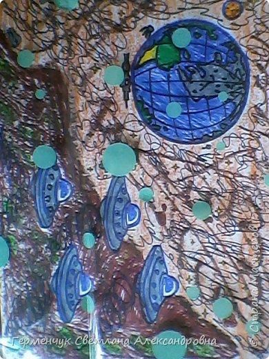 "Раскраски -фантазии на тему ""Космос"" -  ребят 4""В"" класса  ко Дню Космонавтики.  Веселый Гуманоид фото 7"