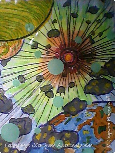 "Раскраски -фантазии на тему ""Космос"" -  ребят 4""В"" класса  ко Дню Космонавтики.  Веселый Гуманоид фото 10"