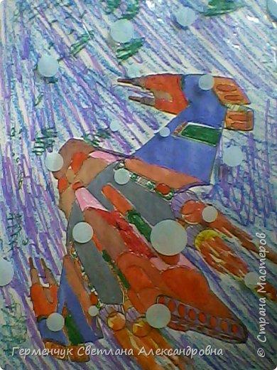 "Раскраски -фантазии на тему ""Космос"" -  ребят 4""В"" класса  ко Дню Космонавтики.  Веселый Гуманоид фото 28"