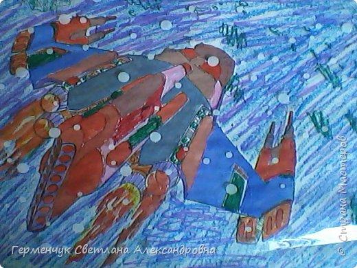 "Раскраски -фантазии на тему ""Космос"" -  ребят 4""В"" класса  ко Дню Космонавтики.  Веселый Гуманоид фото 13"