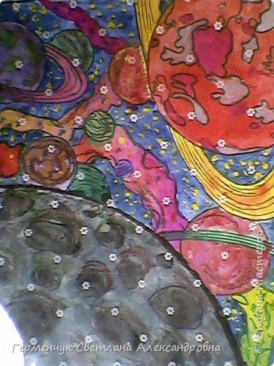 "Раскраски -фантазии на тему ""Космос"" -  ребят 4""В"" класса  ко Дню Космонавтики.  Веселый Гуманоид фото 22"