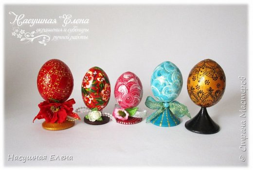 Здравствуйте! Скоро праздник Светлой Пасхи и я, конечно, сделала новенькие работы к празднику. Хотя их не очень много, но все же решила Вам показать. В основном делала в технике декупаж. И первые в списке яйца... фото 3