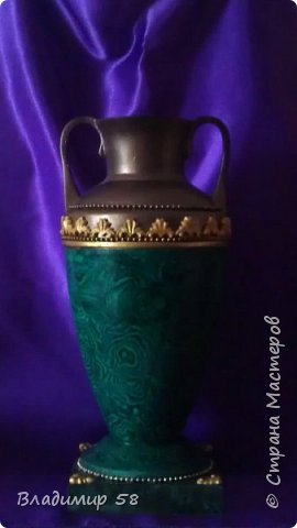 Лепка о.рнамента на готовую вазу фото 1