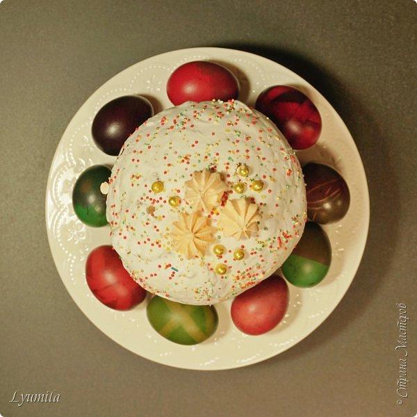 Вчера с детьми красили яйца. Кулич покупной, сама пеку только сейчас. фото 2