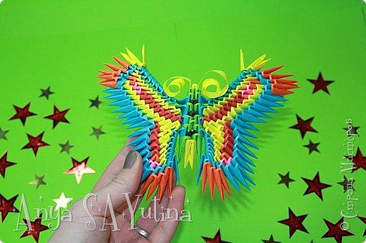 Здравствуйте) Сейчас я вам расскажу и покажу, как делать эту бабочку техникой модульное оригами. Чтобы посмотреть урок, спуститесь чуть ниже по странице:) фото 2