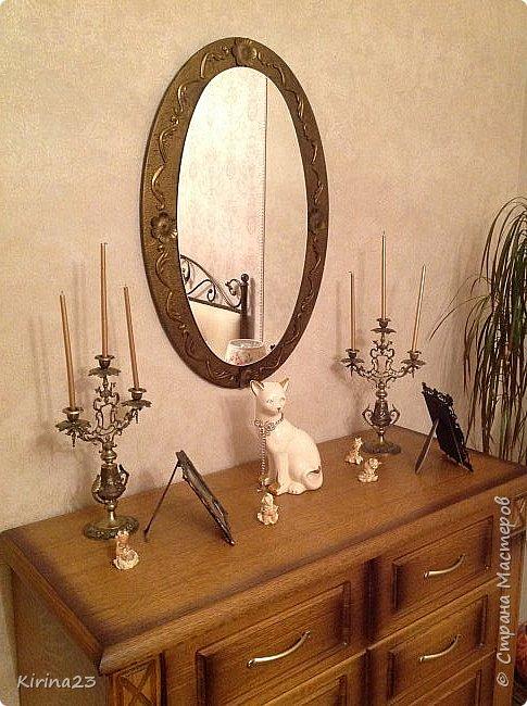 Старинное зеркало из потолочной розетки http://stranamasterov.ru/node/792929 переехало жить в спальню.  Надо было его чем-то заменить . Вот что сотворилось... фото 18