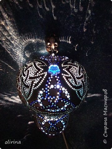 """Здравствуйте Мастера)))) Наконец то я """"добила"""" этот светильник. Сама не представляла конечный результат. фото 17"""