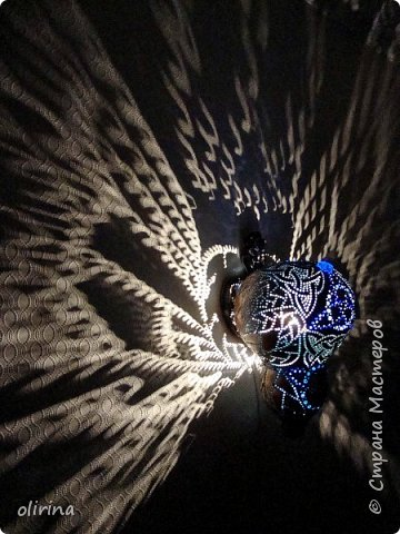 """Здравствуйте Мастера)))) Наконец то я """"добила"""" этот светильник. Сама не представляла конечный результат. фото 13"""