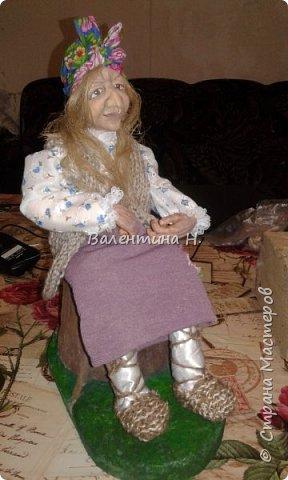 Вот такая бабулечка- Ягулечка появилась у меня пару дней назад из керапласта))) Лицо лепила в один день с этой куклехой https://stranamasterov.ru/node/1090520   фото 4