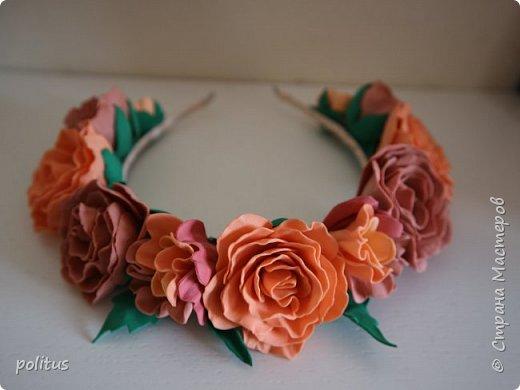 Нежный розовый ободок фото 3