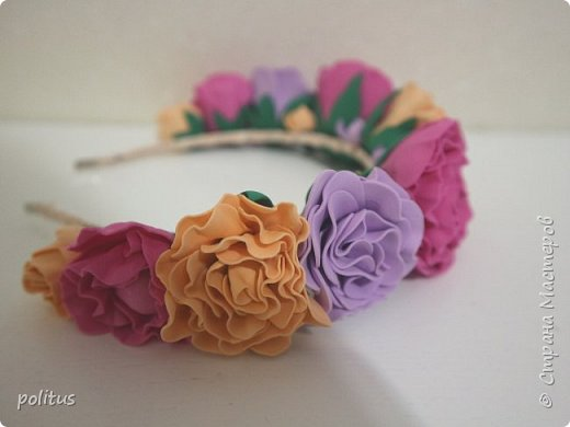 Нежный розовый ободок фото 2