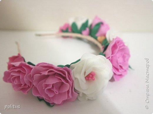 Нежный розовый ободок фото 1