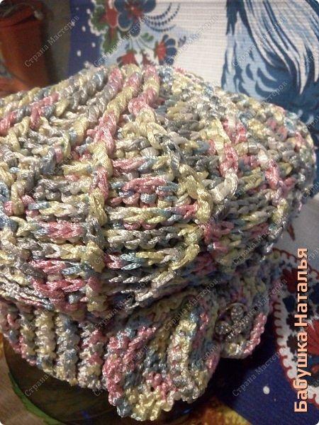 Пряжа Христмас, вишнёвая с чёрными полосами.   фото 2