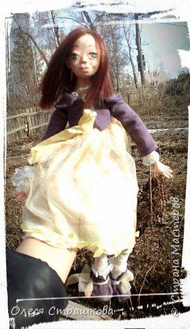 Куколки, куколки, куколки!!!!!!!! Скоро захватят весь дом!!! Никак не могу остановиться!  Вот такое чудо появилось на свет  в апреле!!!  Полинка!!!  Весьма подвижная особа. фото 13