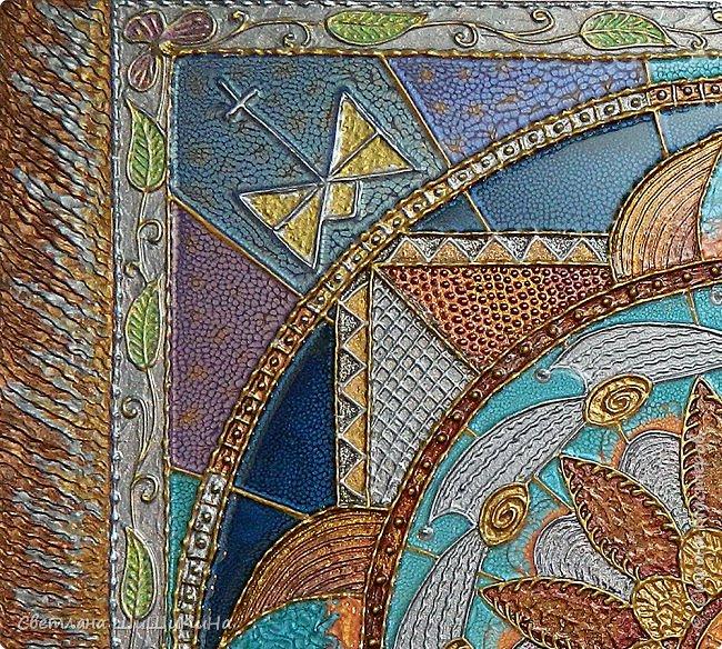 Техника 3D, использовалась текстурная акриловая паста, краски акрил, металлик акрил, краски Pebeo, ювелирная эпоксидная смола. Размер 60 х 70 см фото 2