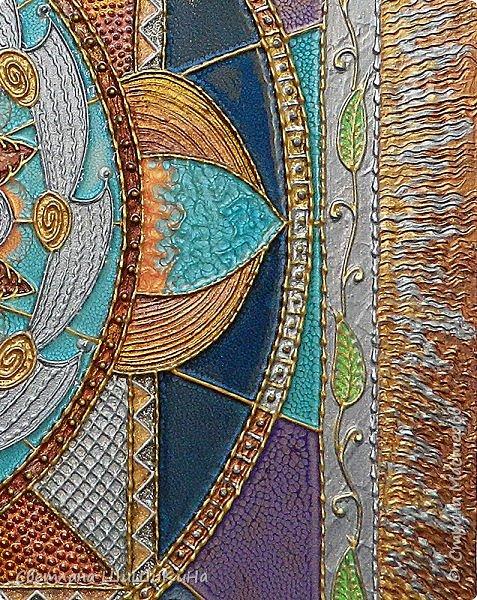 Техника 3D, использовалась текстурная акриловая паста, краски акрил, металлик акрил, краски Pebeo, ювелирная эпоксидная смола. Размер 60 х 70 см фото 4