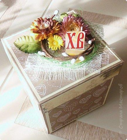 Вот  так выглядит пасхальная коробочка,  поздравить  кого-нибудь  из  близких... фото 1