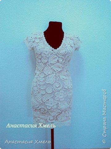 """Платье """"Нежность"""" в технике ирландского кружева. Авторская работа. фото 3"""