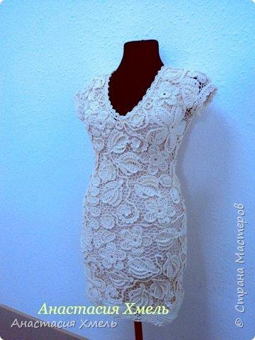 """Платье """"Нежность"""" в технике ирландского кружева. Авторская работа. фото 2"""