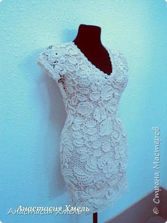 """Платье """"Нежность"""" в технике ирландского кружева. Авторская работа. фото 7"""