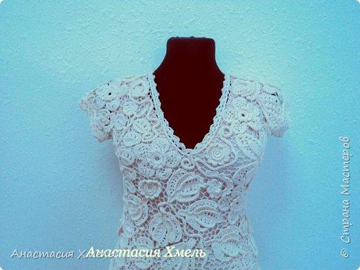 """Платье """"Нежность"""" в технике ирландского кружева. Авторская работа. фото 4"""