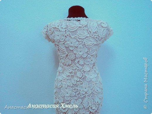 """Платье """"Нежность"""" в технике ирландского кружева. Авторская работа. фото 6"""