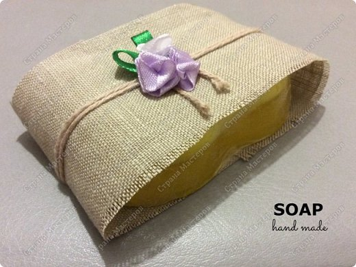 Мыло сделано из мыльной основы с добавлением натурального масла апельсина и масла виноградной косточки. Пищевой краситель. фото 4