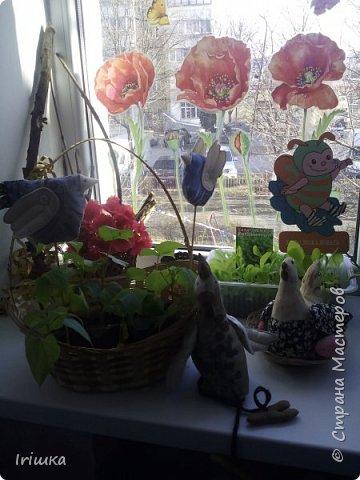 Вот такие птички пошились у меня в детский сад для огородика на подоконнике. фото 9