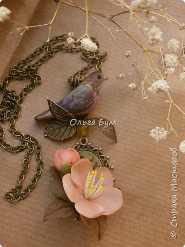 "Кулон с птичкой ""Нескучный сад"" фото 3"