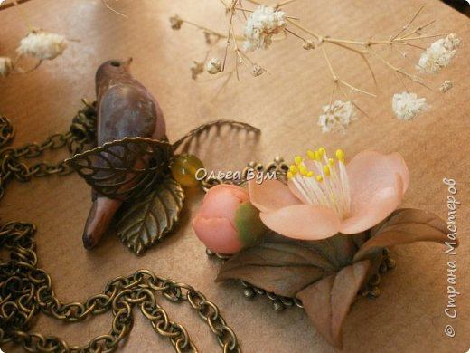 "Кулон с птичкой ""Нескучный сад"" фото 4"
