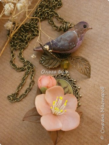"Кулон с птичкой ""Нескучный сад"" фото 5"