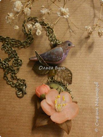 "Кулон с птичкой ""Нескучный сад"" фото 2"